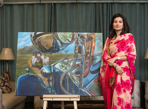 AUTOMOTIVE ART with Baisa Vidita Singh of Barwani