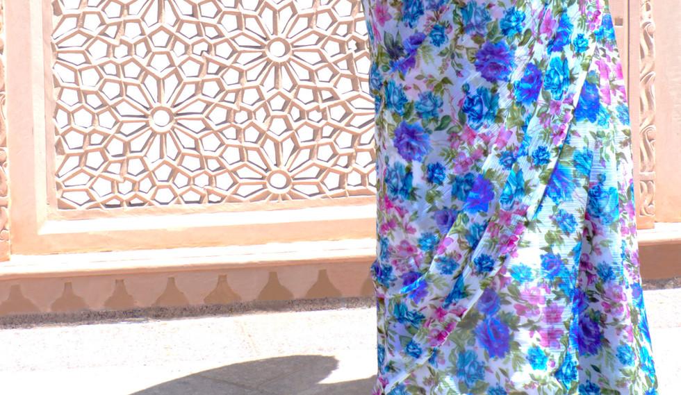 The Desert Geisha and her brandished umbrella