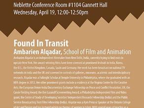 Artist Talk at College of Art & Design, RIT