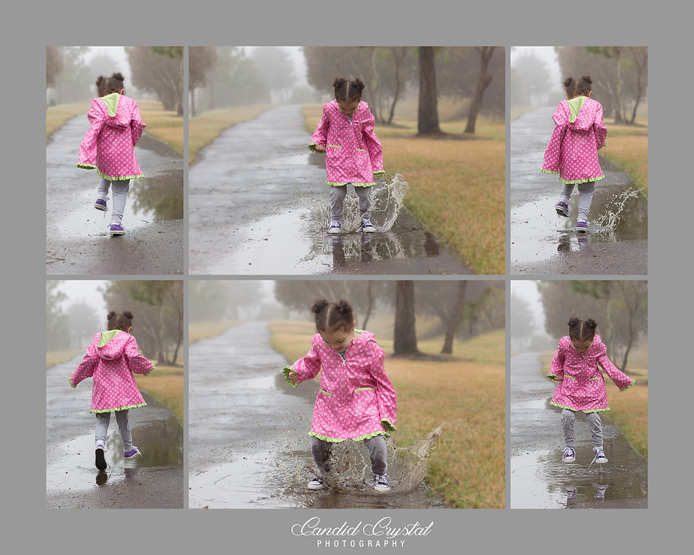 This energetic little two year old loves her muddy puddles!