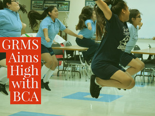 Brownsville Cheer Academy Gives Private Coaching Session at GRMS