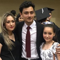 graduating from St. Mary's with family