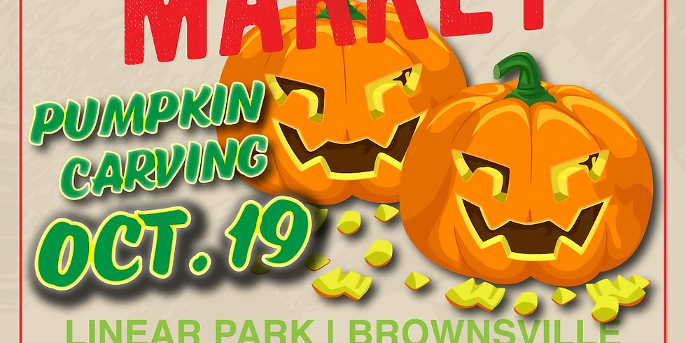 Pumpkin 🎃 Carving at the Brownsville Farmers' Market