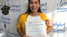 GRMS 8th-grader earns highest score on SJA entrance exam