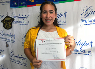 GRMS 8th-graderearns highest score on SJA entrance exam