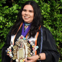 female student at graduation