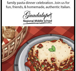 Back to School Night's Family Pasta Dinner