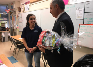 Board Chair Visits Teachers in Their Classrooms