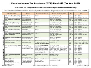 Resource: Free Tax Assistance For Incomes Under $54,000