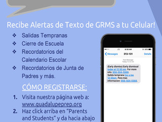 GRMS Text Alerts for Current Families is Now Active