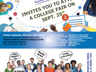 College Fair Open to GRMS Grads in High School