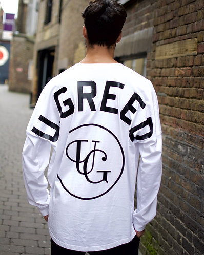 U.GREED Dropped Shoulder Top - White