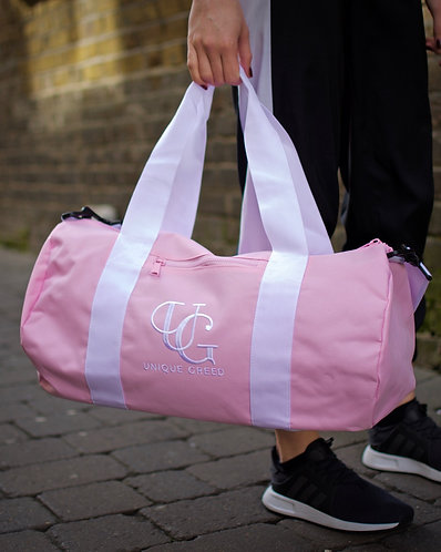 Unique Greed Barrel Bag / Baby Pink