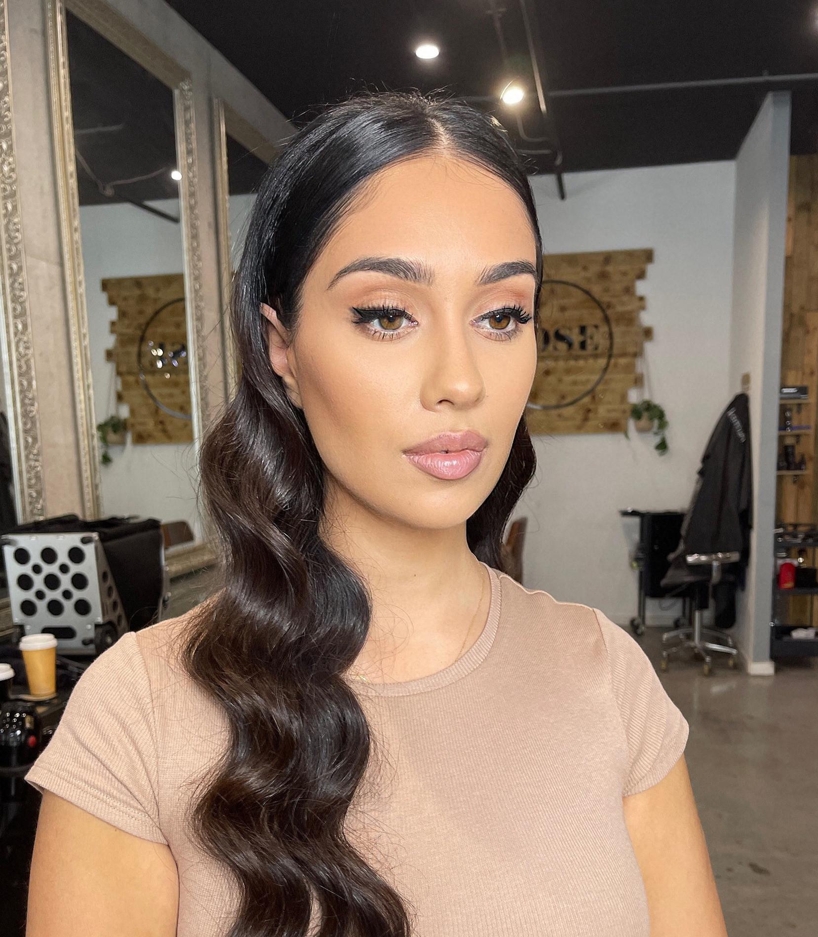 Glam Makeup + Hair Styling - Studio