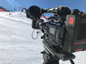Filming for Kinetic Media at Coronet Peak during Winter Games