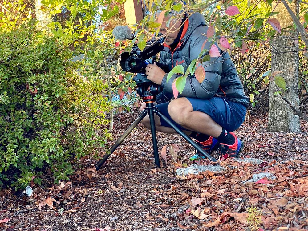 filming the iron man Taupo triathlon kinetic media richard sutcliffe james holman film