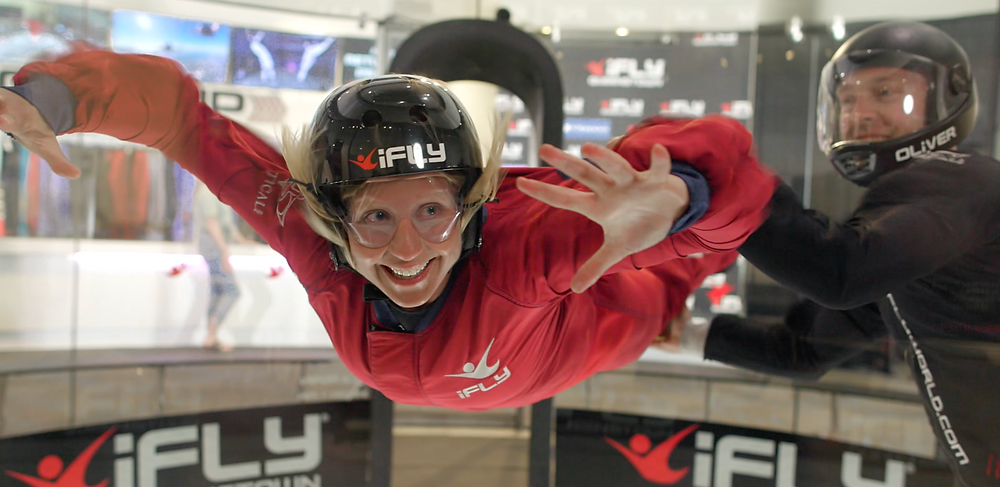 Filming iFly Queenstown's new commercial
