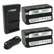 Wasabi NP-F750 battery and dual USB char