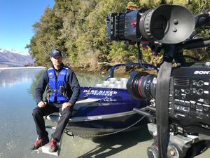 Filming at Dart River Safaris for Ngāi Tahu Tourism