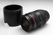 Canon 24-70mm 2.8 with hood