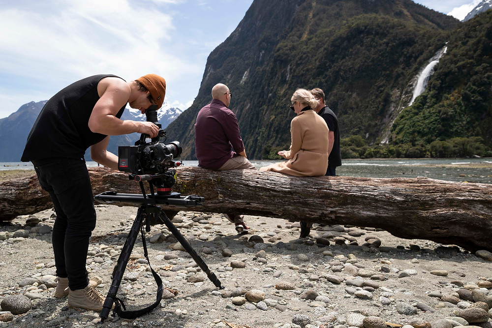 James Holman filming in Glenorchy