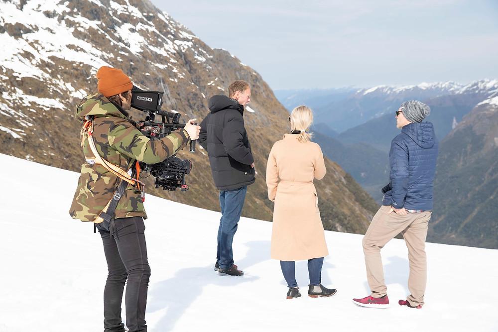 James Holman filming for Heli Glenorchy