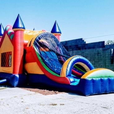 Rainbow Bright Combo Slide Bounce House