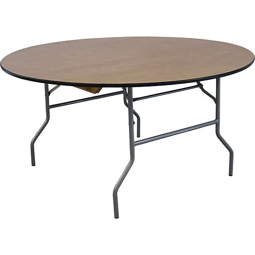 Round Wood Table