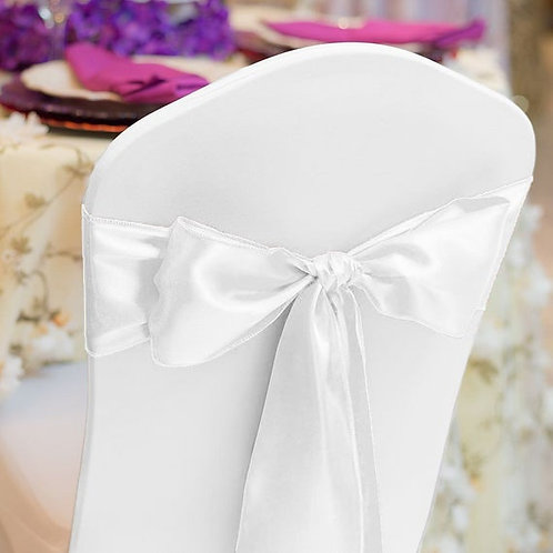 (Organza ) White Chair Satin Sashes Bow Designed for Wedding Events Banquet