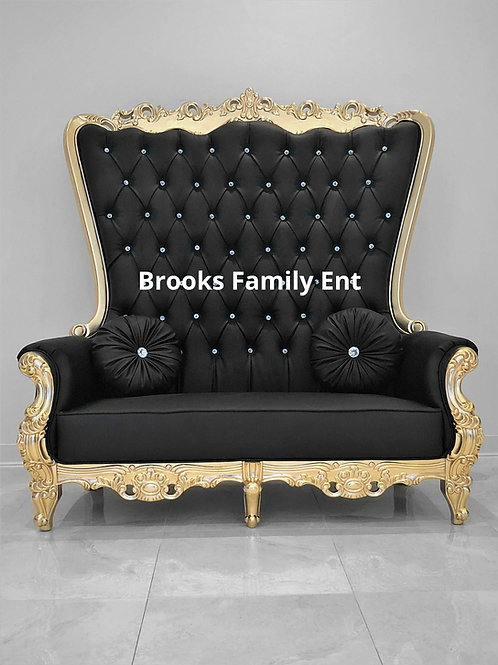 Black & Gold Double Throne Chairs