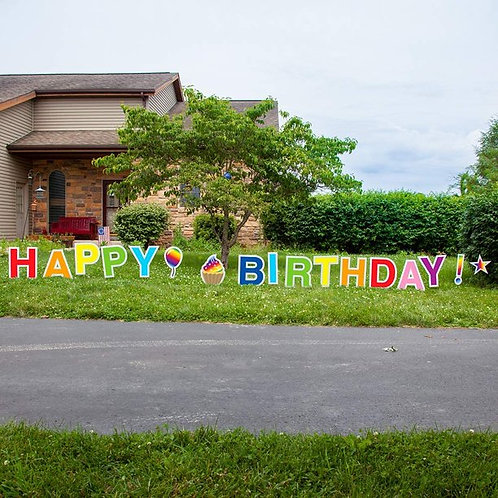 Happy Birthday Yard Sign, Outdoor Party Lawn Decoration