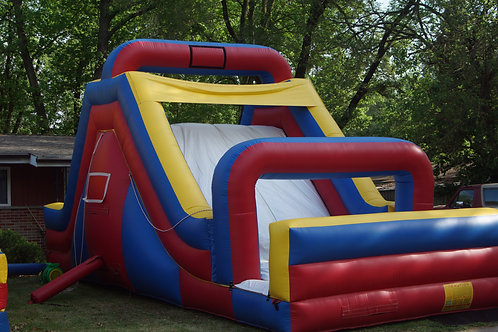 15 FT Dry & Wet Water Slide with Rock Wall