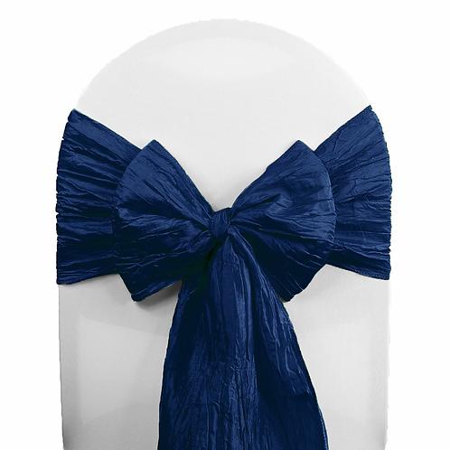 (Silk) Satin Sashes Navy Blue  Chair