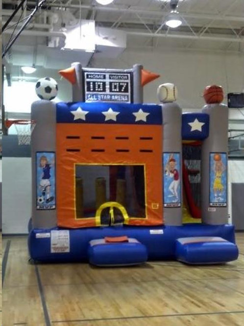 Sports Arena Bounce House Slide Obstacle course