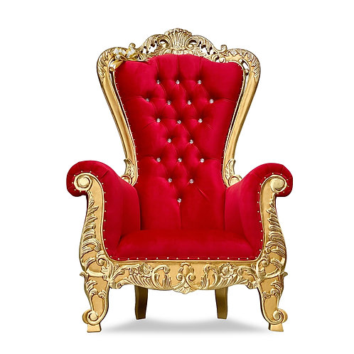 Red Queen Throne Chair Baroque Throne Chair Queen High Back in Red Velvet i