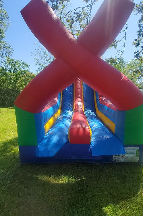 40 ft Extreme Dual Slide & Obstacle Course