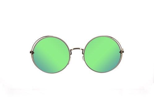 ROUNDEYES Mirrored Emerald