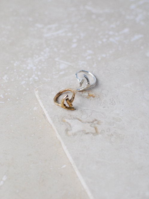Solid Silver Adjustable Cove Ring