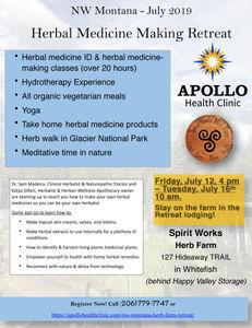 Montana Herbal Medicine Making Retreat July 2019