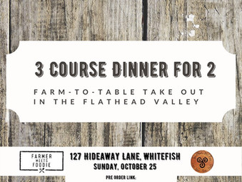 Herb Farmer meets Foodie to Celebrate 2020 Harvest ORDER Your Take Home Meals TODAY!!!