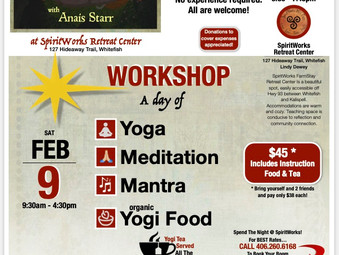 Anais Starr returns to offer Mantra, Yoga, Meditation, Wellness Practices in Community.
