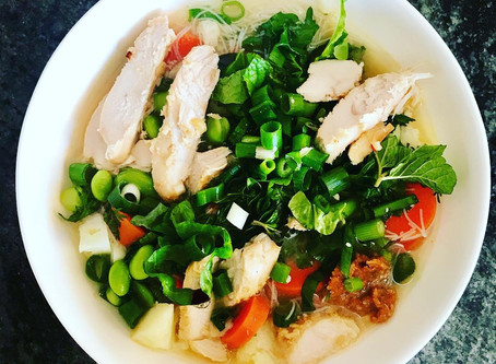 Asian Chicken Soup with Miso