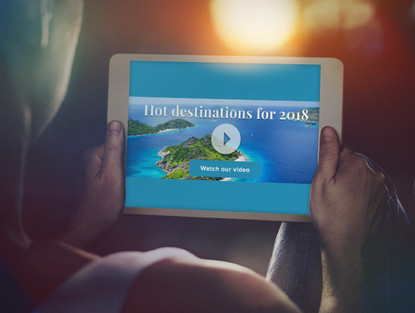Digital banners: Travel destinations