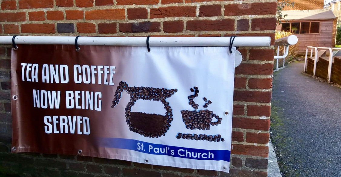 Coffee morning banner