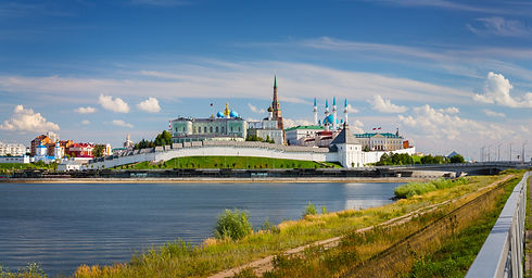 The Kazan Kremlin on the banks of the ri