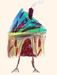 Baba Yaga's hut by Dani Burnett