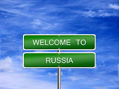 Russia welcome sign post travel immigrat