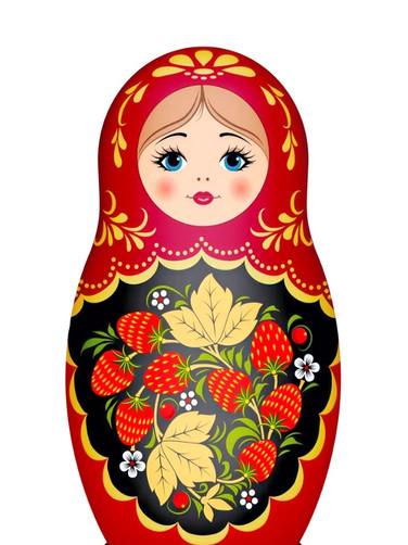 3. A Russian doll is a mat-ryosh-ka in Russian.