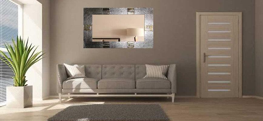 Espejo Artesanal Oro y Plata