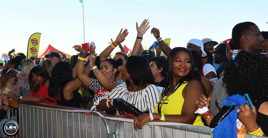 CARIVIBE 2018 - HAVING FUN IN THE CROWD.